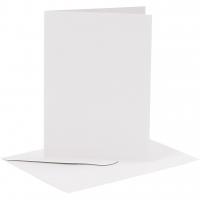 Doppelkarten-Set - weiß - 6 Karten A6 & 6 Umschläge C6 (Card Making)