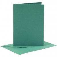Doppelkarten-Set - dunkelgrün - 6 Karten A6 & 6 Umschläge C6 (Card Making)