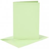Doppelkarten-Set - hellgrün - 6 Karten A6 & 6 Umschläge C6 (Card Making)