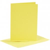 Doppelkarten-Set - gelb - 6 Karten A6 & 6 Umschläge C6 (Card Making)