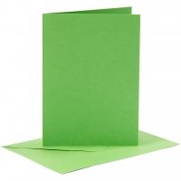Doppelkarten-Set - grün - 6 Karten A6 & 6 Umschläge C6 (Card Making)