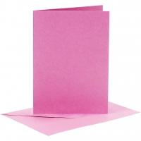 Doppelkarten-Set - pink - 6 Karten A6 & 6 Umschläge C6 (Card Making)