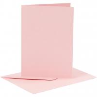 Doppelkarten-Set - rosa - 6 Karten A6 & 6 Umschläge C6 (Card Making)