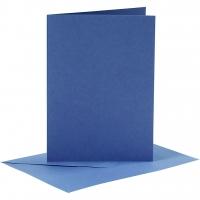 Doppelkarten-Set - blau - 6 Karten A6 & 6 Umschläge C6 (Card Making)