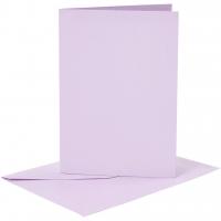 Doppelkarten-Set - helllila - 6 Karten A6 & 6 Umschläge C6 (Card Making)