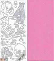 Sticker - Baby - rosa - 804