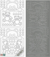 Sticker - Baby-Bärchen - silber - 937