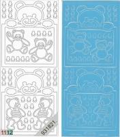 Sticker - Baby-Bärchen - hellblau - 937