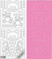 Sticker - Baby-Bärchen - rosa - 937