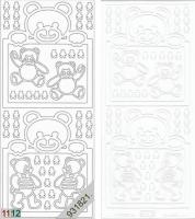 Sticker - Baby-Bärchen - weiß - 937