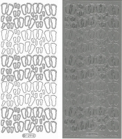 Sticker - Babyfüße - silber - 129