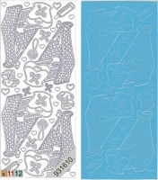 Sticker - Baby-Wiege - hellblau - 838