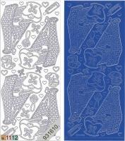 Sticker - Baby-Wiege - blau - 838