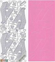 Sticker - Baby-Wiege - rosa - 838