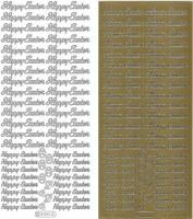 Sticker - Happy Easter - gold - 380