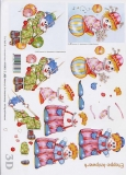 3D-Bogen Clowns von LeSuh (416903)