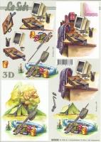 3D-Bogen Büro und Angeln von LeSuh (821505)