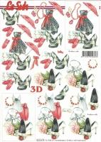 3D-Bogen Outfit schwarz-rot-weiß von LeSuh (8215479)