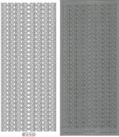 Sticker - Bordüren - silber - 1276