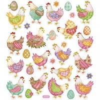 Creativ-Sticker Oster-Hühner
