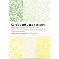 Cardboard Lace Patterns - grün-gelb