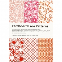Cardboard Lace Patterns - rot-pink