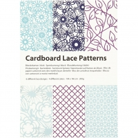 Cardboard Lace Patterns - blau-lila