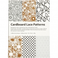 Cardboard Lace Patterns - schwarz-braun