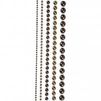 Halbperlen-Set 2-8 mm - 140 Stück - braun