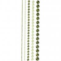 Halbperlen-Set 2-8 mm - 140 Stück - grün