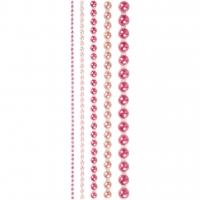 Halbperlen-Set 2-8 mm - 140 Stück - pink