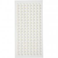 Halbperlen 5 mm - 144 Stück - weiß
