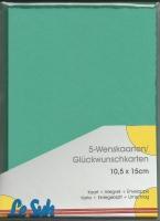 Karten-Set A6 mit Büttenrand - grün