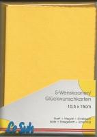Karten-Set A6 mit Büttenrand - sonnengelb