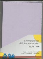 Karten-Set A6 mit Büttenrand - lavendel
