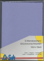 Karten-Set A6 mit Büttenrand - flieder
