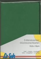 Karten-Set A6 mit Büttenrand - piniengrün