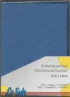 Karten-Set A6 mit Büttenrand - royalblau