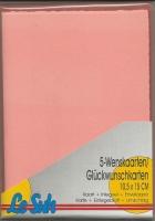 Karten-Set A6 mit Büttenrand - lachs