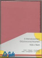 Karten-Set A6 mit Büttenrand - altrosa