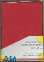 Karten-Set A6 mit Büttenrand - kardinalrot