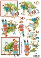 3D-Bogen Kinder mit Weihnachtsbaum von LeSuh (4169114)