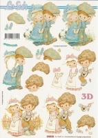 3D-Bogen Junge und Mädchen von LeSuh (416936)