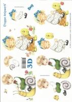 3D-Bogen Kinder auf Schildkröte und Schnecke von LeSuh (416931)