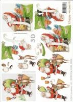 3D-Bogen Weihnachtsmann von LeSuh (416971)