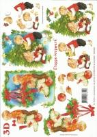 3D-Bogen Kinder an Weihnachten von LeSuh (4169190)