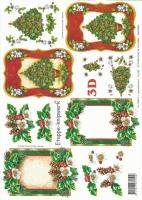3D-Bogen Weihnachtliche Rahmen von LeSuh (416989)