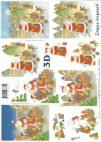 3D-Bogen Weihnachtsmann mit Kindern von LeSuh (4169109)