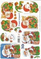 3D-Bogen Weihnachtsmann von LeSuh (4169115)