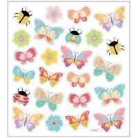 Creativ-Sticker Schmetterlinge und Marienkäfer